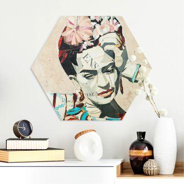 Hexagon Bild Forex - Frida Kahlo - Collage No.1