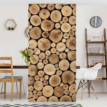 Raumteiler - Homey Firewood 250x120cm