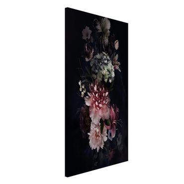 Magnettafel - Blumen mit Nebel auf Schwarz - Memoboard Hochformat 4:3