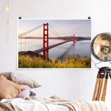 Poster - Golden Gate Bridge in San Francisco - Querformat 2:3