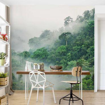 Fototapete - Dschungel im Nebel - Fototapete