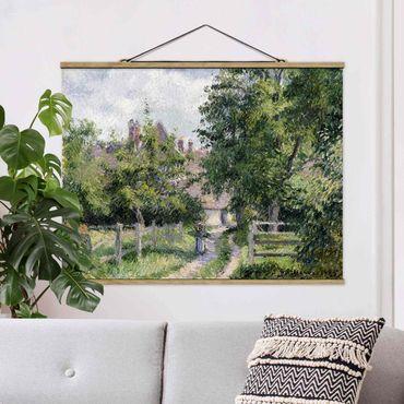 Stoffbild mit Posterleisten - Camille Pissarro - Saint-Martin - Querformat 3:4