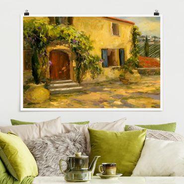 Poster - Italienische Landschaft - Toskana - Querformat 2:3