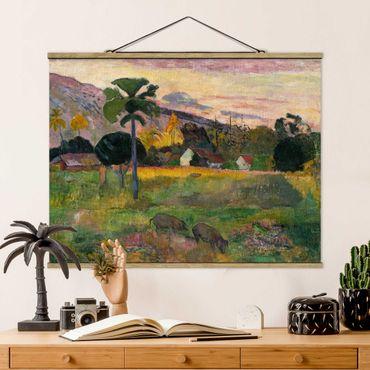 Stoffbild mit Posterleisten - Paul Gauguin - Komm her - Querformat 3:4