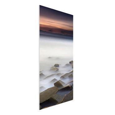 Forex Fine Art Print - Sonnenuntergang im Nebel - Hochformat 2:1
