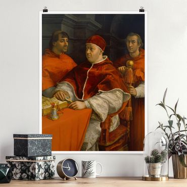 Poster - Raffael - Bildnis von Papst Leo X - Hochformat 3:4