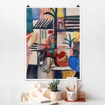 Poster - August Macke - Mann mit Esel - Hochformat 3:4