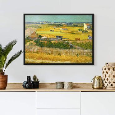Bild mit Rahmen - Vincent van Gogh - Die Ernte - Querformat 3:4