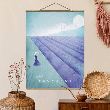 Stoffbild mit Posterleisten - Reiseposter - Provence - Hochformat 4:3