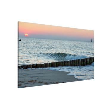 Magnettafel - Sonnenuntergang am Meer - Memoboard Querformat 2:3