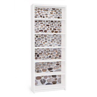 Möbelfolie für IKEA Billy Regal - Klebefolie Andalusische Steinmauer