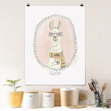 Poster - Koffeinhaltiges Lama - Hochformat 3:4