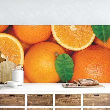 Küchenrückwand - Saftige Orangen