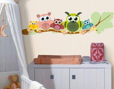Wandtattoo Babyzimmer Eule No.CG216 Eulenfamilie