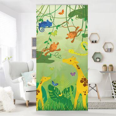 Raumteiler Kinderzimmer - No.IS87 Dschungelspiel 250x120cm