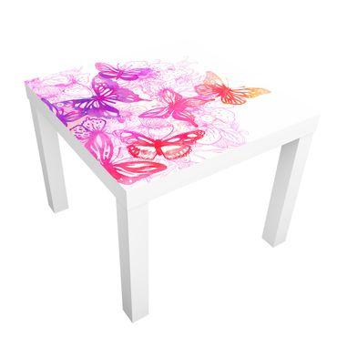 Möbelfolie für IKEA Lack - Klebefolie Schmetterlingstraum