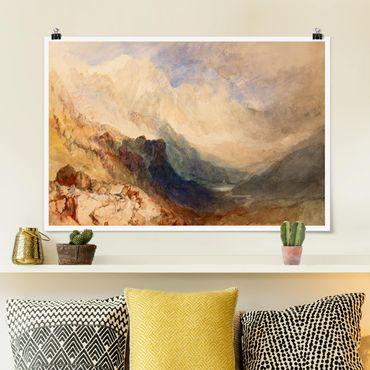 Poster - William Turner - Aostatal - Querformat 2:3