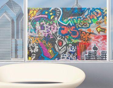 Fensterfolie - Sichtschutz Fenster Urban Graffiti - Fensterbilder