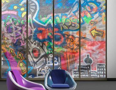 Fensterfolie - XXL Fensterbild Urban Graffiti - Fenster Sichtschutz