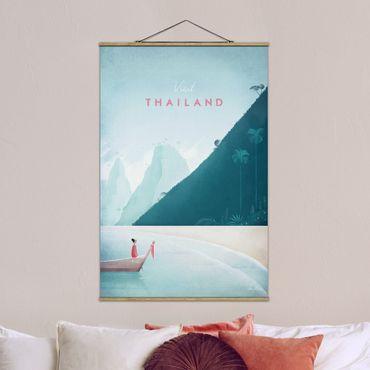 Stoffbild mit Posterleisten - Reiseposter - Thailand - Hochformat 3:2