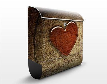 Briefkasten Holz - Natural Love - Wandbriefkasten
