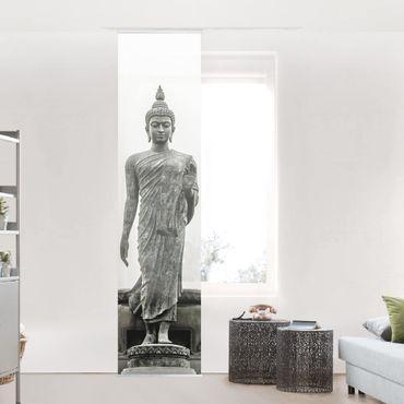 Schiebegardinen Set - Buddha Statue - Flächenvorhänge