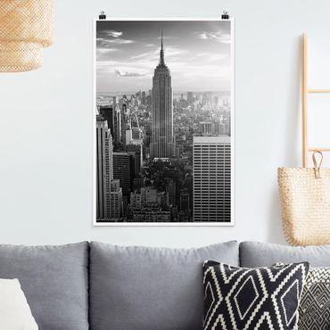 Poster - Manhattan Skyline - Hochformat 3:2