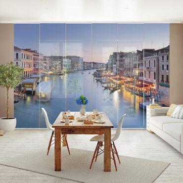 Schiebegardinen Set - Abendstimmung auf Canal Grande in Venedig - Flächenvorhänge