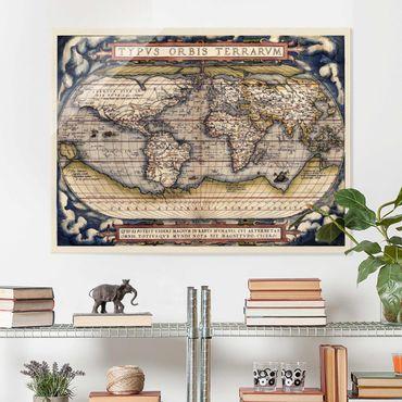 Glasbild - Historische Weltkarte Typus Orbis Terrarum - Querformat 3:4