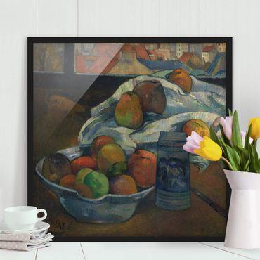 Bild mit Rahmen - Paul Gauguin - Obstschale - Quadrat 1:1