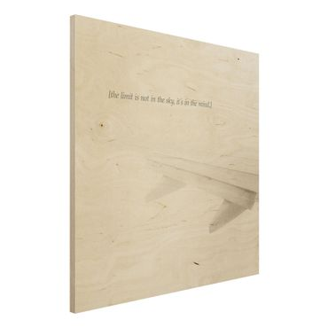 Holzbild - Lyrische Landschaften - Himmel - Quadrat 1:1