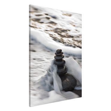 Magnettafel - Steinturm und Welle - Memoboard Hochformat 3:2