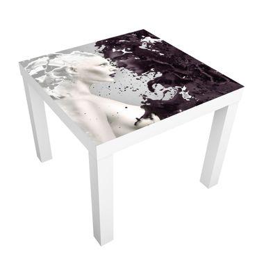 Möbelfolie für IKEA Lack - Klebefolie Milk & Coffee