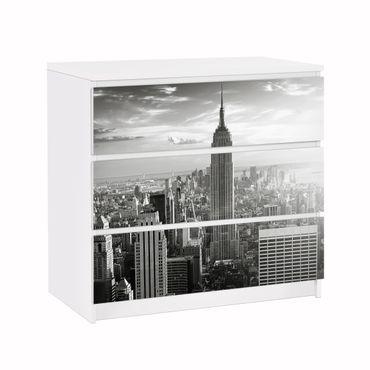 Möbelfolie für IKEA Malm Kommode - Klebefolie No.34 Manhattan Skyline Panorama