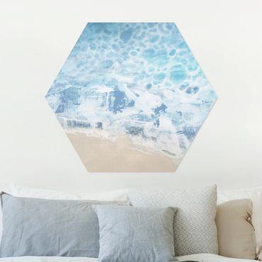 Hexagon Bild Alu-Dibond - Ebbe und Flut in Farbe II