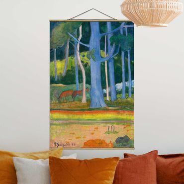 Stoffbild mit Posterleisten - Paul Gauguin - Waldlandschaft - Hochformat 3:2