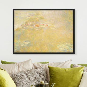 Bild mit Rahmen - Claude Monet - Seerosenteich - Querformat 3:4