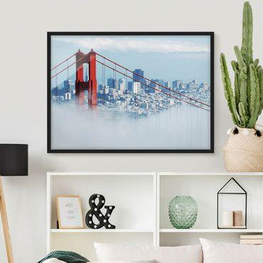Bild mit Rahmen - Good Morning San Francisco! - Querformat 3:4