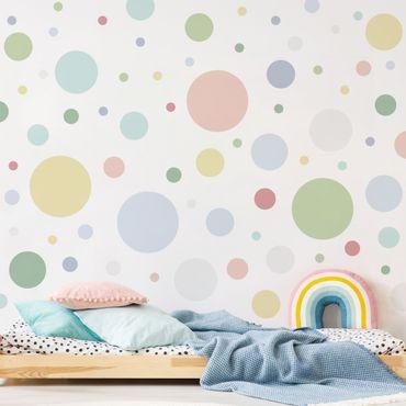 Wandtattoo - Punkte Konfetti Pastell Set