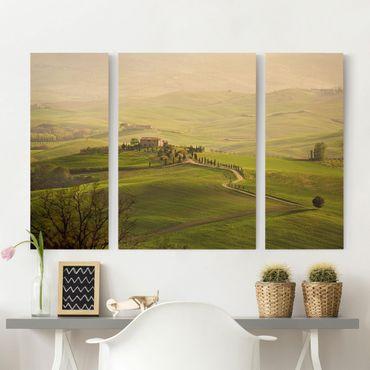 Leinwandbild 3-teilig - Chianti Toskana - Triptychon