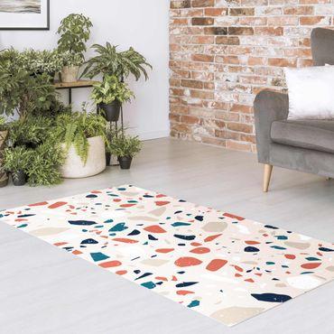 Vinyl-Teppich - Detailliertes Terrazzo Muster Torino - Querformat 2:1