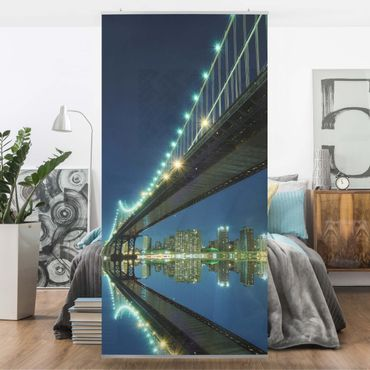 Raumteiler - Abstract Manhattan Bridge 250x120cm