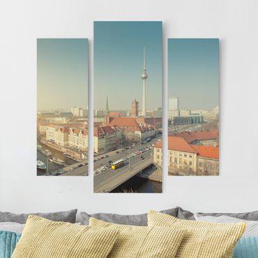 Leinwandbild 3-teilig - Berlin am Morgen - Galerie Triptychon