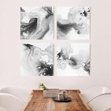 Leinwandbild 4-teilig - Dunst und Wasser Set II