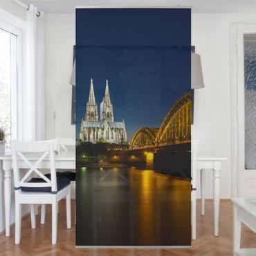 Raumteiler - Köln bei Nacht 250x120cm