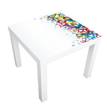 Möbelfolie für IKEA Lack - Klebefolie Colourful Numbers