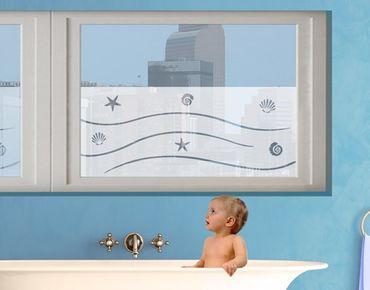 Fensterfolie - Sichtschutzfolie No.BP12 la Mer - Milchglasfolie - Milchglasfolie