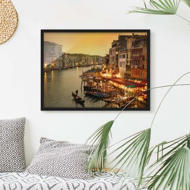 Bild mit Rahmen - Großer Kanal von Venedig - Querformat 3:4