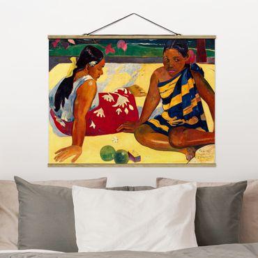 Stoffbild mit Posterleisten - Paul Gauguin - Frauen von Tahiti - Querformat 3:4