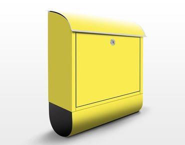Briefkasten Gelb - Colour Lemon Yellow - Gelber Briefkasten mit Zeitungsfach
